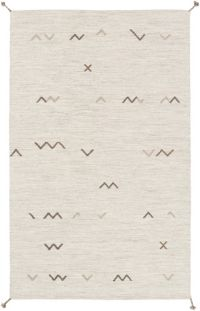 Surya Montezuma Global Handcrafted 2' x 3' Accent Rug in Ivory/Grey