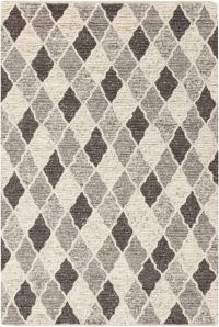 Surya Nico Geometric 2' X 3' Handcrafted Accent Rug in Charcoal/Black