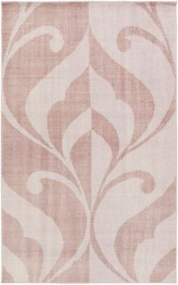 Surya Paradox Medallions and Damask 2' x 3' Accent Rug in Mauve