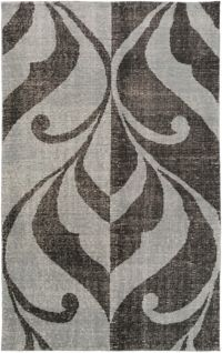 Surya Paradox Medallions and Damask 2' x 3' Accent Rug in Black