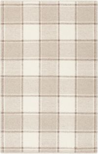 Suyra Rockford Geometric 5' x 7'6 Area Rug in Taupe/Cream