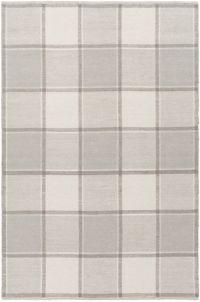 Suyra Rockford Geometric 5' x 7'6 Area Rug in Light Grey