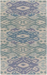 Surya Global Traditional 8' x 10' Area Rug in Denim