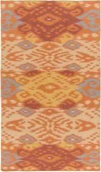 Surya Global Traditional 5' x 7'6 Area Rug in Burnt Orange/Tan