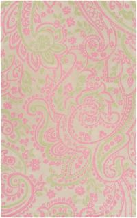 Surya Lullaby Floral 2' x 3' Accent Rug in Bright Pink