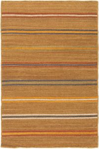 Surya Miguel Striped 2' x 3' Accent Rug in Camel/Navy