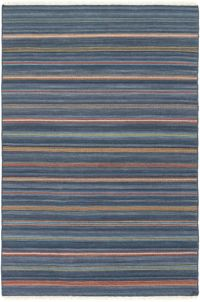 Surya Miguel Striped 8' x 10' Area Rug in Navy/Rust