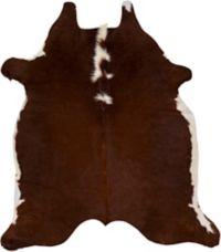 Surya Hair-on-Hide 5' x 6' Area Rug in Dark Brown/White