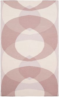 Surya Taurus Circle 5' x 7'6 Hand-Woven Area Rug in Blush/Lilac