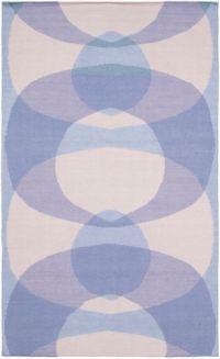 Surya Taurus Circle 8' x 10' Hand-Woven Area Rug in Lavender/Denim