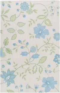 Surya Skidaddle Floral 7'6 x 9'6 Handtufted Area Rug in Sky Blue