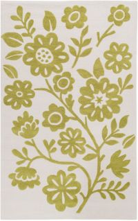 Surya Skidaddle Floral 2' x 3' Hand-Tufted Accent Rug in Green