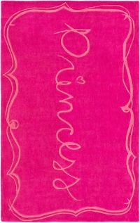 Surya Skidaddle Novelty Princess 5' x 7'6 Area Rug in Bright Pink