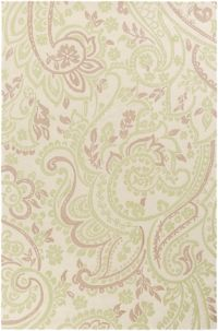 Surya Lullaby Floral 2' x 3' Accent Rug in Mint
