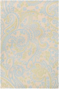 Surya Lullaby Floral 2' x 3' Accent Rug in Sky Blue