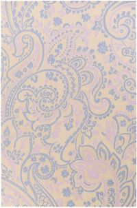 Surya Lullaby Floral 5' x 7'6 Area Rug in Bright Blue