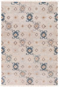 Surya Lenora Global 2' x 3' Accent Rug in Teal/Navy