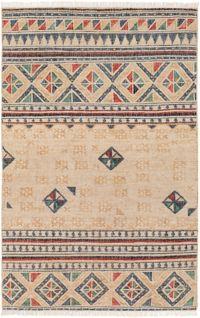 Surya Lenora 5' x 7'6 Hand-Woven Area Rug in Cream/Tan