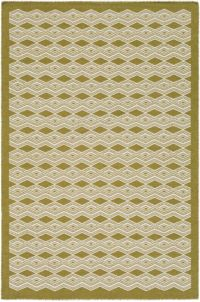 Surya Agostina Geometric 2' x 3' Accent Rug in Lime/Cream