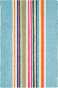 Surya Technicolor Striped 2' x 3' Accent Rug in Mint