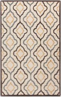 Surya Modern Classics Geometric 3'3 x 5'3 Area Rug in Khaki
