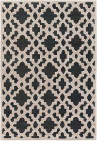Surya Modern Classics Moroccan Trellis 9' x 13' Area Rug in Black/Khaki