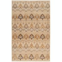 Surya Cambridge Medallion 2' x 3' Hand Knotted Accent Rug in Ivory/Tan