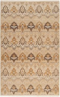 Surya Cambridge Medallion 5'6 x 8'6 Hand Knotted Area Rug in Ivory/Tan