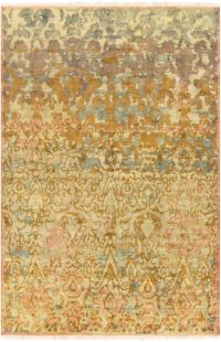 Surya Cheshire Classic 2' x 3' Hand-Knotted Accent Rug in Camel/Lime