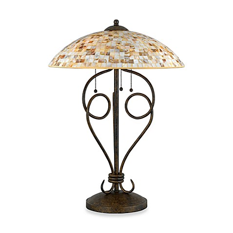 Quoizel®  Monterey Mosaic 3-Light Table Lamp