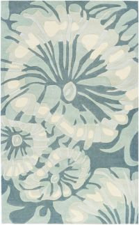 Surya Cosmopolitan Abstract Flowers 9' x 13' Hand Tufted Area Rug in Navy/Sage