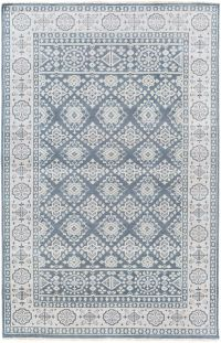 Surya Cappadocia Vintage-Inspired 3'6 x 5'6 Area Rug in Navy/Grey
