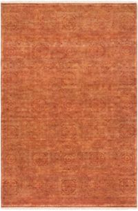 Surya Empress Classic Absract Floral 5'6 x 8'6 Hand-Knotted Area Rug in Burnt Orange