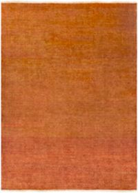 Surya Empress Classic Absract Floral 8' x 11' Hand-Knotted Area Rug in Burnt Orange