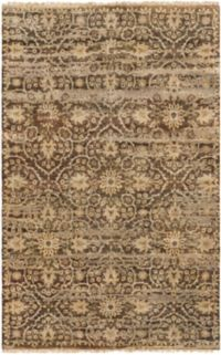 Surya Empress Classic Floral 9' x 13' Hand-Knotted Area Rug in Brown/Camel