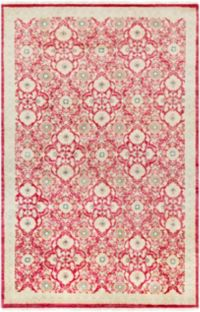 Surya Empress Classic 9' x 13' Area Rug in Dark Red/ Khaki