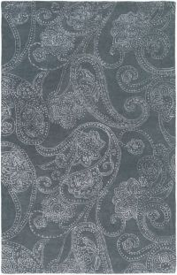 Surya Modern Classics Floral 9' x 13' Handcrafted Area Rug in Grey