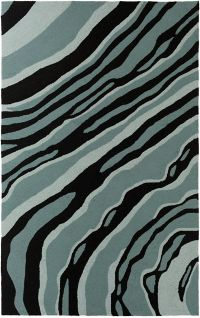 Surya Courtyard Modern 2' x 3' Handcrafted Accent Rug in Aqua/Teal