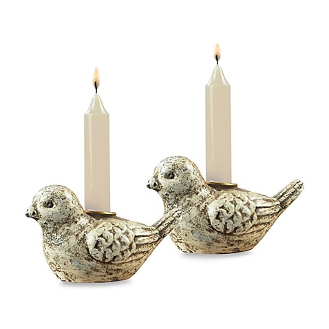 Sterling Industries Mini Bird Candle Holders (Set of 2)