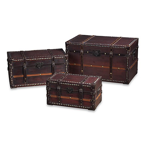 Sterling Industries Travelers Chests in Salford & Tan (Set of 3)