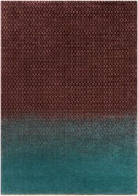 Surya DipGeo by Ted Baker 8'2 x 7'9 Area Rug in Brown/Teal