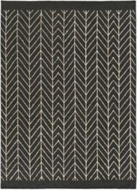Surya Dasher Herringbone 5' x 7'6 Area Rug in Black/White