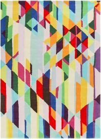 Surya Estella Geometric 5' x 7'6 Hand-Tufted Area Rug in Pale Pink