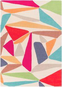 Surya Estella Geometric 5' x 7'6 Hand-Tufted Area Rug in Cream/Denim