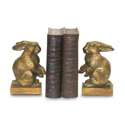Sterling Home Gold Baby Rabbit Bookends