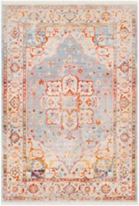 Surya Ephesians Vintage 5' x 7' 9 Area Rug in Orange/Grey
