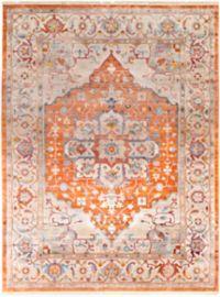 Surya Ephesians Floral 7' 10 x 10' 3 Area Rug in Burnt Orange