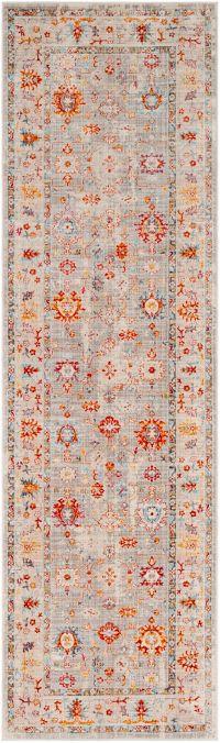 Surya Ephesians Transitional Saffron 2' 7 x 9' Runner