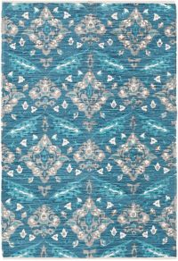 Surya Elaine Global Medallions 5' x 7'6 Area Rug in Aqua