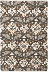 Surya Elaine Global Medallions 8' x 11' Area Rug in Black/Tan